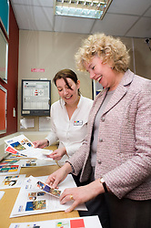 Sheffield MP Meg Munn gave her support to British Tourism Week by getting a taste of what it would be like working at The Park Inn Hotel on Blonk Street Sheffield, where along side Reception Manger Nicola Carlin she was given the task of preparing Informational and Promotion brochures ready for the guests.19th March 2010