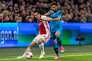 AMSTERDAM - 05-04-2017, Ajax - AZ, Stadion Arena, Ajax speler Nick Viergever, AZ speler Alireza Jahanbakhsh