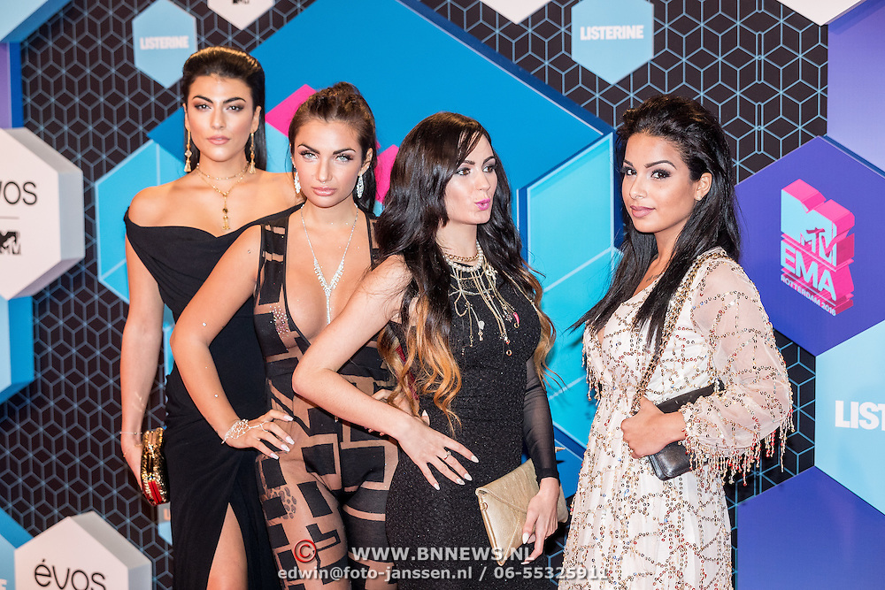 NLD/Rotterdam/20161106 - MTV EMA's 2016, Gordy Shore Warsaw edition members, Elettra Lamborghini