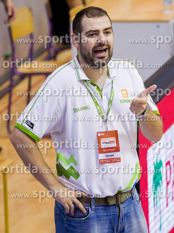 Stefanos Dedas, assistant coach of  of Slovenia during friendly basketball match between National teams of Slovenia and Georgia in day 2 of Adecco Cup 2014, on July 25, 2014 in Dvorana OS 1, Murska Sobota, Slovenia. Photo by Vid Ponikvar / Sportida.com
