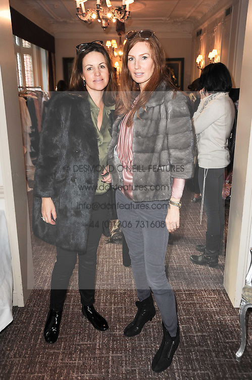 Left to right, BRONWEN FITZPATRICK and ANGELA DUNN at a shopping afternoon hosted by Amanda Kyme and Tamara Beckwith featuring designs from Elizabeth Hurley held at the Cadogan Hotel, 75 Sloane Street, London SW1 on 23rd November 2010.