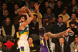 February 27, 2019 - Los Angeles, CA, U.S. - LOS ANGELES, CA - FEBRUARY 27: New Orleans Pelicans Forward Kenrich Williams (34) shoots during the first half of the New Orleans Pelicans versus Los Angeles Lakers game on February 27, 2019, at Staples Center in Los Angeles, CA. (Photo by Icon Sportswire) (Credit Image: © Icon Sportswire/Icon SMI via ZUMA Press)