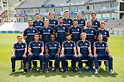 Hampshire Team Photo Back Row (L to R) Lewis McManus, Brad Wheal, Asher Hart, Brad Taylor, Will Smith. Middle Row (L to R) Rilee Rossouw, Ryan Stevenson, Reece Topley, Chris Wood, Gareth Berg, Liam Dawson. Front Row (L to R) Mason Crane, Kyle Abbott, Michael Carberry, James Vince, Jimmy Adams, Sean Ervine. Hampshire CCC photo call 2017 at  at the Ageas Bowl, Southampton, United Kingdom on 12 April 2017. Photo by David Vokes.