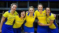 ROTTERDAM - Bloeme,  Hedwig, Lijsbeth, Lieve .Hilversum D2  kampioen. Landskampioenschap zaalhockey voor reserveteams. FOTO KOEN SUYK
