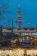 Rathaus, Wiener Christkindlmarkt, Weihnachtsmarkt in Wien, Österreich, Wien