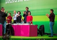 DEU, Deutschland, Germany, Leipzig, 09.11.2018: Annalena Baerbock, Bundesvorsitzende von BÜNDNIS 90/DIE GRÜNEN. Bundesparteitag von BÜNDNIS 90/DIE GRÜNEN, Messe Leipzig. Auf dem Parteitag wurden die KandidatInnen für die Europawahl im Mai 2019 gewählt.