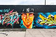 Graffiti Piece in Bushwick neighborhood, Brooklyn, New York City.