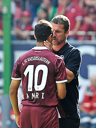 24.07.2010, Fritz-Walter Stadion, Kaiserslautern, GER, 1. FBL, Friendly Match, 1.FC Kaiserslautern vs FC Liverpool, im Bild Marco KURZ (Trainer Kaiserslautern) im Gespraech mit Chalid AMRI (Kaiserslauern #10 FRA) bei dessen Auswechslung, EXPA Pictures © 2010, PhotoCredit: EXPA/ nph/  Roth+++++ ATTENTION - OUT OF GER +++++