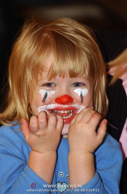 Diana Janssen gesminkt als clown