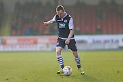 Millwall FC midfielder Shane Ferguson (18) during the Sky Bet League 1 match between Swindon Town and Millwall at the County Ground, Swindon, England on 12 March 2016. Photo by Shane Healey.