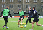 Dundee new boy Darren O&rsquo;Dea holds off Dundee&rsquo;s Kevin Holt during Dundee FC training <br /> <br />  - &copy; David Young - www.davidyoungphoto.co.uk - email: davidyoungphoto@gmail.com