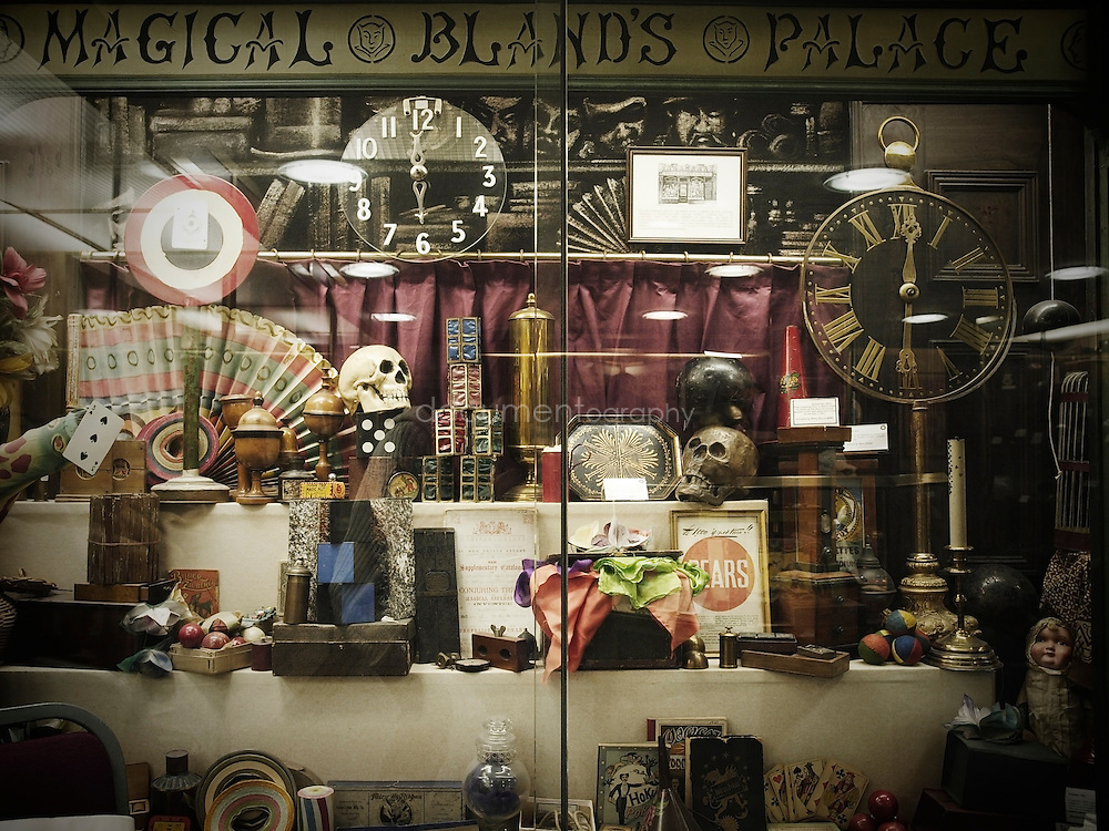 The Magic Circle Museum - a display based on an old-fashioned magic shop.