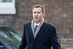 © Licensed to London News Pictures. 06/02/2018. London, UK. Health and Social Care Secretary Jeremy Hunt arriving in Downing Street to attend a Cabinet meeting this morning. Photo credit : Tom Nicholson/LNP
