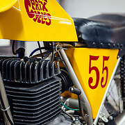 Bob Fox's first motorcycle inside the world headquarters museum.