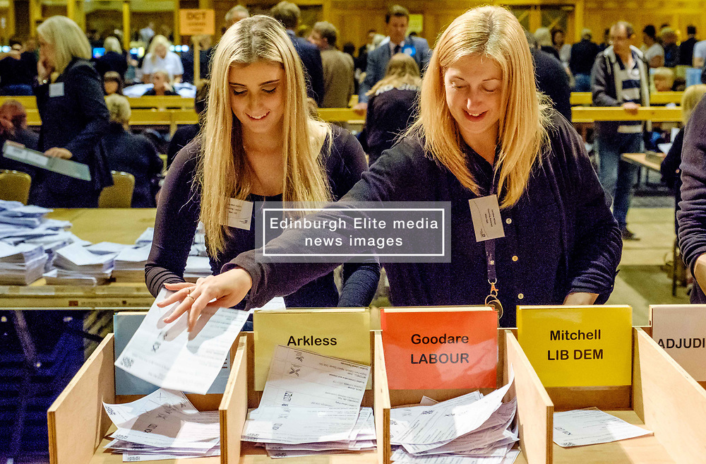 General Election 2017 Dumfries Count :: Final stages of the count in progress<br /> <br /> <br /> (c) Andrew Wilson | Edinburgh Elite media