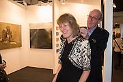 JILL GEORGE; BILL JACKSON, NECK SCULPTURE BY UTE DECKER, London Art Fair, Business Design Centre, Upper St. Islington. 19 January 2015