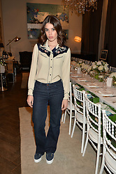GALA GORDON at the Creme de la Mer Blue Marine Foundation Dinner held at The Arts Club, 40 Dover Street, London on 23rd June 2015.