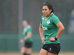 Ireland women's Sene Naoupu<br /> <br /> Photographer Mike Jones/Replay Images<br /> <br /> International Friendly - Wales women v Ireland women - Sunday 21st January 2018 - CCB Centre for Sporting Excellence - Ystrad Mynach<br /> <br /> World Copyright © Replay Images . All rights reserved. info@replayimages.co.uk - http://replayimages.co.uk