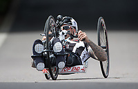 Andrew Darby in action during the Prudential RideLondon Handcycle Grand Prix.<br /> <br /> Prudential RideLondon 28/07/2017<br /> <br /> Photo: Tom Lovelock/Silverhub for Prudential RideLondon<br /> <br /> Prudential RideLondon is the world&rsquo;s greatest festival of cycling, involving 100,000+ cyclists &ndash; from Olympic champions to a free family fun ride - riding in events over closed roads in London and Surrey over the weekend of 28th to 30th July 2017. <br /> <br /> See www.PrudentialRideLondon.co.uk for more.<br /> <br /> For further information: media@londonmarathonevents.co.uk