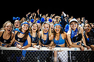 Burlington fans cheer for the team during the high school football game between the Middlebury Tigers and the Burlington Sea Horses at Buck Hard field on Friday night October 13, 2017 in Burlington. (BRIAN JENKINS/for the FREE PRESS)