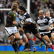Twickenham, GREAT BRITAIN, Baa Baa's, Ma'a NONU, attacking run, during the, Gartmore Challenge -  Barbarians vs South Africa, rugby match at Twickenham Stadium, ENGLAND.  [Mandatory Credit Peter Spurrier/Intersport Images].