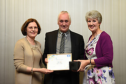 Lincolnshire Co-operative long service awards 2017 held at The Showroom, Lincoln.  Pictured, from left, Lincolnshire Co-operative chief executive Ursula Lidbetter, Malcolm Dixon (25 years - Louth Funeral service) and Lincolnshire Co-operative president Julia Romney.<br /> <br /> Picture: Jane Harrison<br /> Date: September 20, 2017