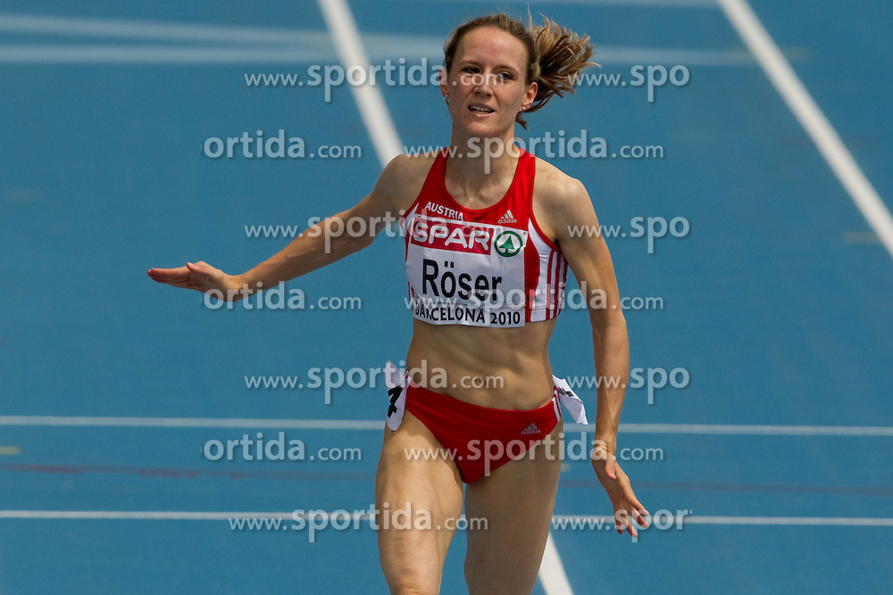 Doris Roeser of Austria competes in the Womens 200m Heat during day four of the 20th European Athletics Championships at the Olympic Stadium on July 30, 2010 in Barcelona, Spain. (Photo by Vid Ponikvar / Sportida)