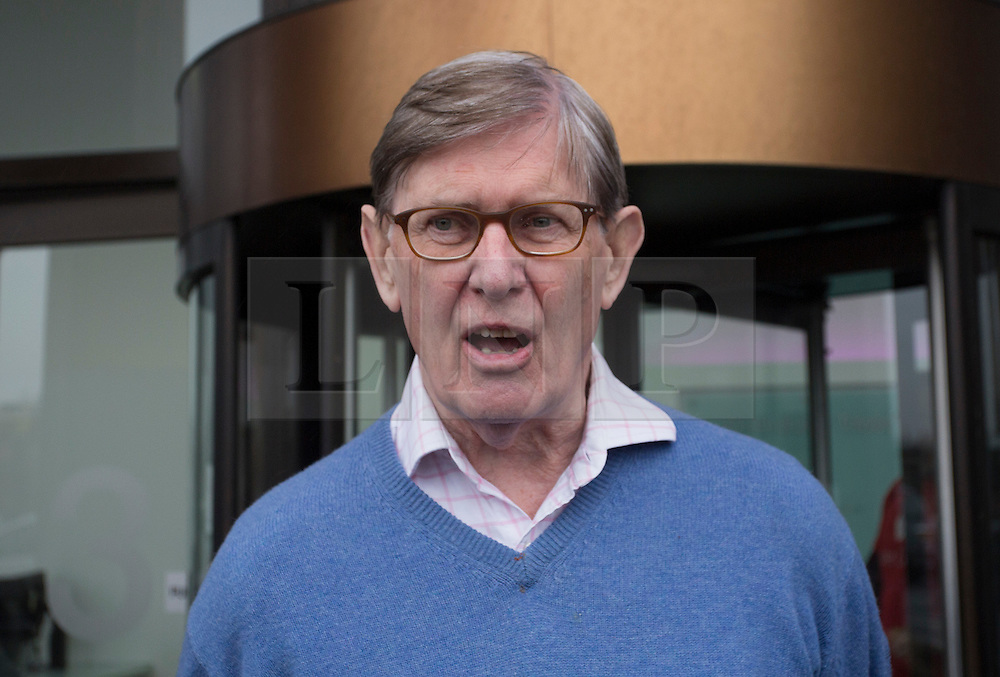 © Licensed to London News Pictures. 20/02/2016. London, UK. Sir Bill Cash MP leaving a 'Vote Leave' meeting in Westminster after prime minister David Cameron announced a referendum on the EU on June 23rd. Photo credit: Ben Cawthra/LNP