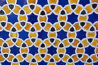 Ouzbekistan, Tashkent, musee des beaux art, detail de ceramique // Uzbekistan, Tashkent, fine art museum, ceramic detail