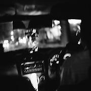 Bangkok April 2015 , 3AM on the road to Samut Nakhon. © Jean-Michel Clajot