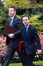 London, October 17 2017. Attorney General Jeremy Wright and Welsh Secretary Alun Cairns attends the UK cabinet meeting at Downing Street. © Paul Davey
