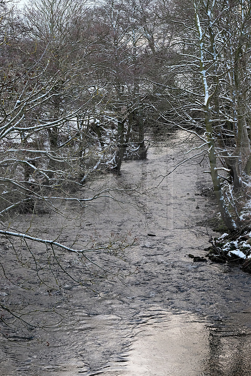 &copy; Licensed to London News Pictures. <br /> 29/01/2015. <br /> <br /> Danby, United Kingdom<br /> <br /> Snow covered trees line the banks of the River Esk near Danby in North Yorkshire. A wintery blast causing extremely cold weather is expected to cause some disruption over the next few days.<br /> <br /> Photo credit : Ian Forsyth/LNP