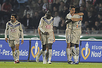 FOOTBALL - FRENCH CHAMPIONSHIP 2010/2011 - L1 - LILLE OSC v GIRONDINS BORDEAUX  - 16/04/2011 - PHOTO JEAN MARIE HERVIO / DPPI - JOY VUJADIN SAVIC (GDB) AFTER HIS GOAL