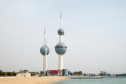 Kuwait Towers in Kuwait City, Kuwait.