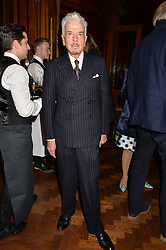 NICKY HASLAM at a party to celebrate the launch of the Maison Assouline Flagship Store at 196a Piccadilly, London on 28th October 2014.  During the evening Valentino signed copies of his new book - At The Emperor's Table.