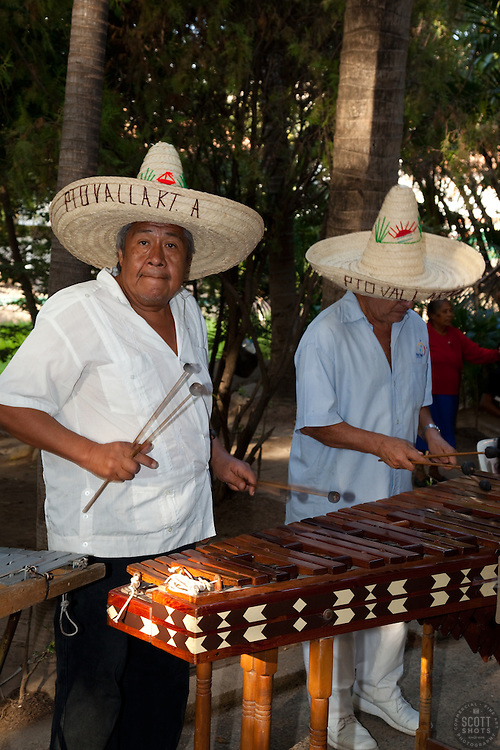 """Xylophone Players in Puerto Vallarta"" - These lively xylophone players were photographed in Puerto Vallarta, Mexico."