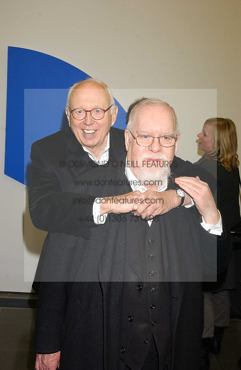 Left to0 right, artists ELLSWORTH KELLY and PETER BLAKE at an exhibition of leading artist Ellsworth Kelly at the Serpentine Gallery, Kensington Gardens, London followed by a dinner at the Riverside Cafe, London on 17th March 2006.<br />