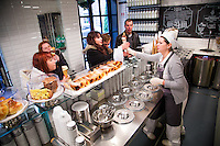 Rome, Italy - December 12, 2014: Doling out gelato at Come il Latte in Rome. Come il Latte is an artisnal gelateria that focuses on quality ingredients rather than outrageous flavors. CREDIT: Chris Carmichael for The New York Times