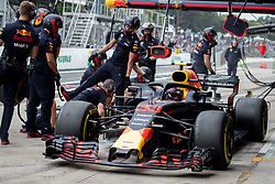 November 9, 2018 - Sao Paulo, Sao Paulo, Brazil - MAX VERSTAPPEN, of Red Bull Racing, drives during the free practice session for the Formula One Grand Prix of Brazil at Interlagos circuit, in Sao Paulo, Brazil. The grand prix will be celebrated next Sunday, November 11. (Credit Image: © Paulo LopesZUMA Wire)