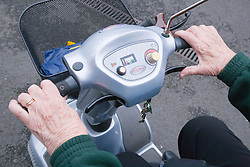 Controls of a electric mobility scooter,