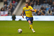 Jack Harrison (22) of Leeds United on the attack during the The FA Cup 3rd round match between Queens Park Rangers and Leeds United at the Loftus Road Stadium, London, England on 6 January 2019.