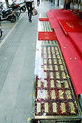 NANJING, CHINA - SEPTEMBER 16: (CHINA OUT) <br /> <br /> Gold Stair<br /> <br /> A stair decorated with nearly 200 gold bars is seen in front of a gold shop on September 16, 2014 in Nanjing, Jiangsu Province of China<br /> ©Exclusivepix
