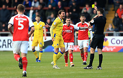 Edward Upson of Bristol Rovers is shown a yellow card - Mandatory by-line: Matt McNulty/JMP - 27/04/2019 - FOOTBALL - Highbury Stadium - Fleetwood, England - Fleetwood Town v Bristol Rovers - Sky Bet League One