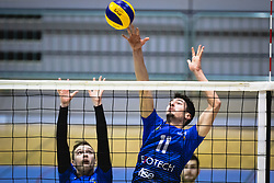 Hodžič Šlejkovski Din of Šoštanj Topolšica during volleyball match between Panvita Pomgrad and Šoštanj Topolšica of 1. DOL Slovenian National Championship 2019/20, on December 14, 2019 in Osnovna šola I, Murska Sobota, Slovenia. Photo by Blaž Weindorfer / Sportida