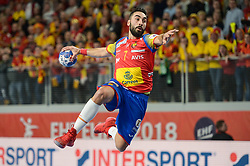 Rivera Valero of Spain during handball match between National teams of Macedonia and Spain on Day 4 in Main Round of Men's EHF EURO 2018, on January 21, 2018 in Arena Varazdin, Varazdin, Croatia. Photo by Mario Horvat / Sportida