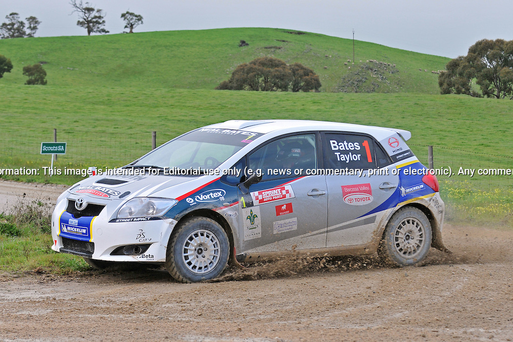 Neal BATES & Coral TAYLOR - Toyota Corolla S2000.Heat 1.Rally South Australia.Barossa Valley, South Australia.1st of August 2009.(C) Joel Strickland Photographics.Use information: This image is intended for Editorial use only (e.g. news or commentary, print or electronic). Any commercial or promotional use requires additional clearance.