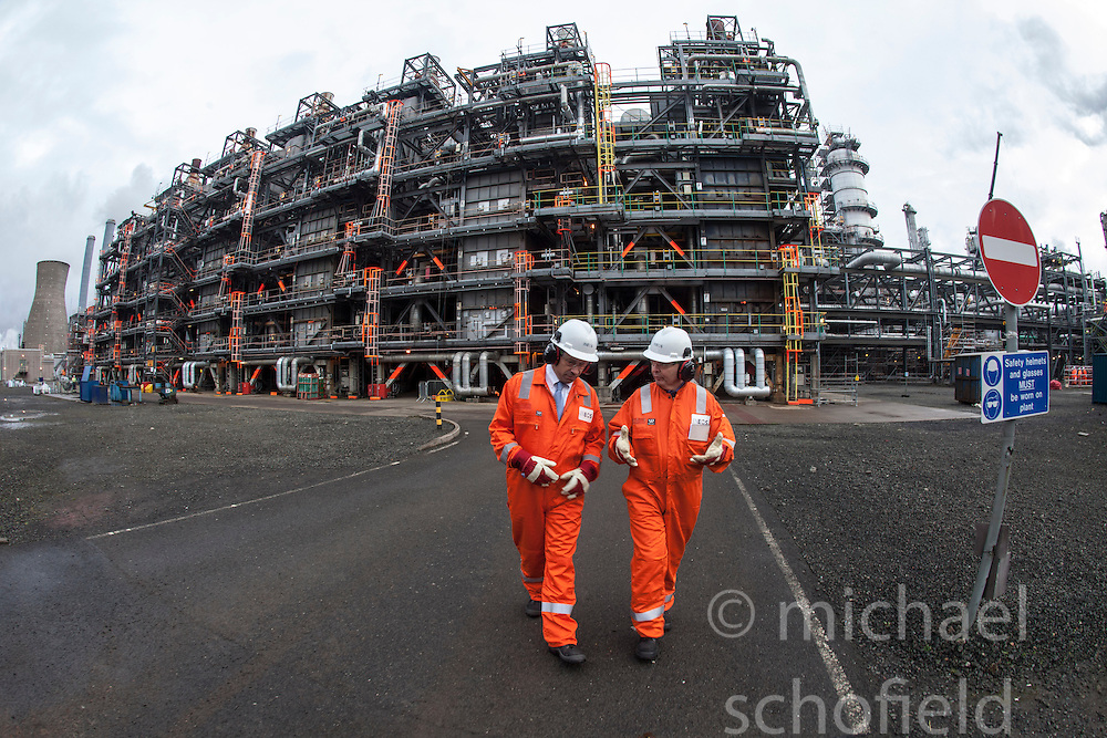 Outside the KG Cracker.<br /> INEOS Grangemouth plant as part of an INEOS Media Trip.