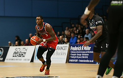 Fred Thomas of Bristol Flyers in possessino - Photo mandatory by-line: Arron Gent/JMP - 07/12/2019 - BASKETBALL - Surrey Sports Park - Guildford, England - Surrey Scorchers v Bristol Flyers - British Basketball League Championship
