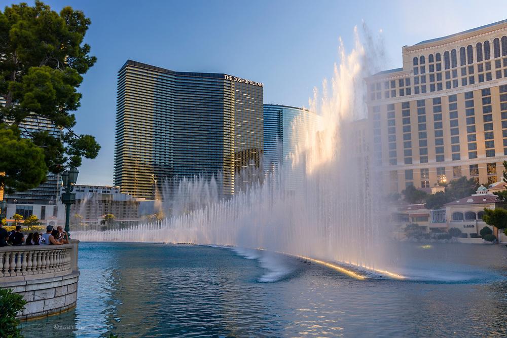 The fountains of Bellagio hotel, Las Vegas, Nevada U.S.A