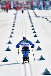 YAROVYI Maksym UKR LW10 competing in the ParaSkiDeFond, Para Nordic Skiing, Sprint at  the PyeongChang2018 Winter Paralympic Games, South Korea.